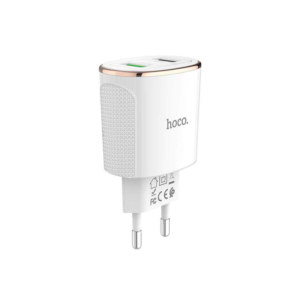 Hoco C60A Dual USB Sạc Khối Đa Năng 5 V/3A Sạc Hỗ Trợ QC 3.0 Sạc Nhanh
