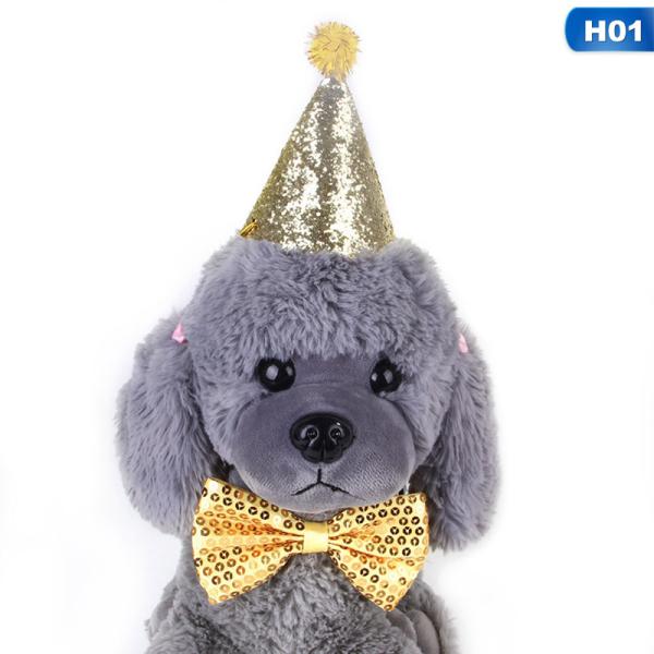Pet Dog Bow Tie Hat Tiệc Ngày Lễ