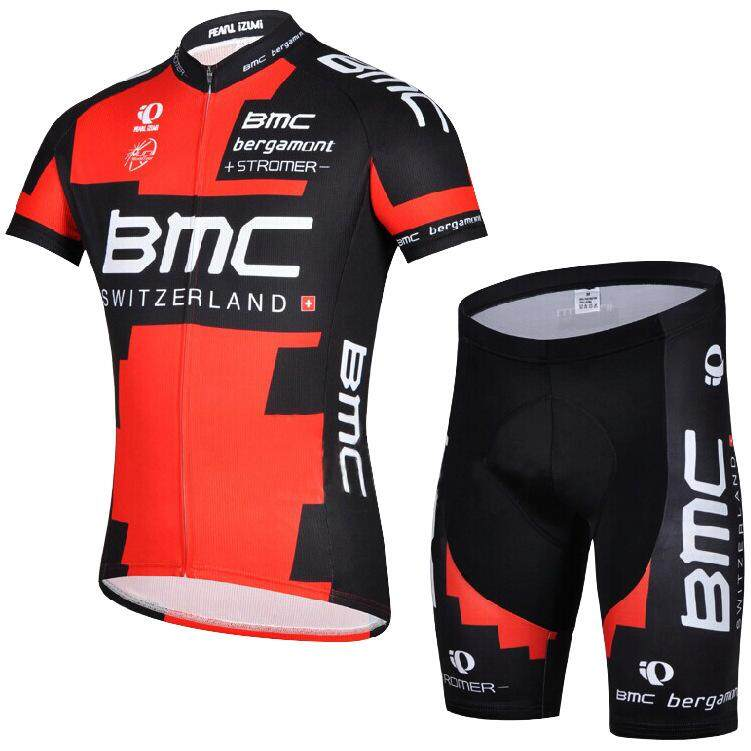 cheaper 1e28b 0d97d 2 Pcs BMC Long sleeve Short sleeve Summer Cycling Jerseys Men's Cycling  Wear Bike Jersey Team Racing Clothing Perspiration Quick drying Sunscreen