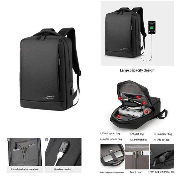 Laptop Backpack with USB Charging Port Computer Bags woman Business Laptop Backpacks Male Mochila School Malaysia
