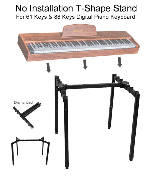No Installation Stand Heavy Duty T-Shape Stand T Stand T-Stand For 61 Keys and 88 Keys Digital Piano Keyboard Instant Use No Need Assembly Digital Piano Stand Keyboard Stand Malaysia