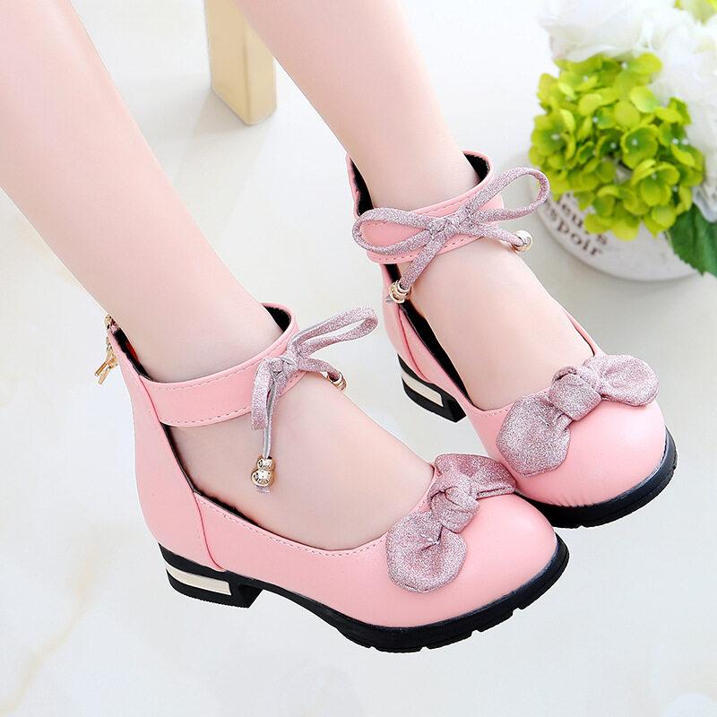 Giá bán Đỏ Hồng Đen Trẻ Em Bé Gái Giày Da Cho Trẻ Em Cao Cấp Bé Gái Công Chúa Giày Dành Cho Tiệc Cưới Lớn Đầm Bé Gái giày