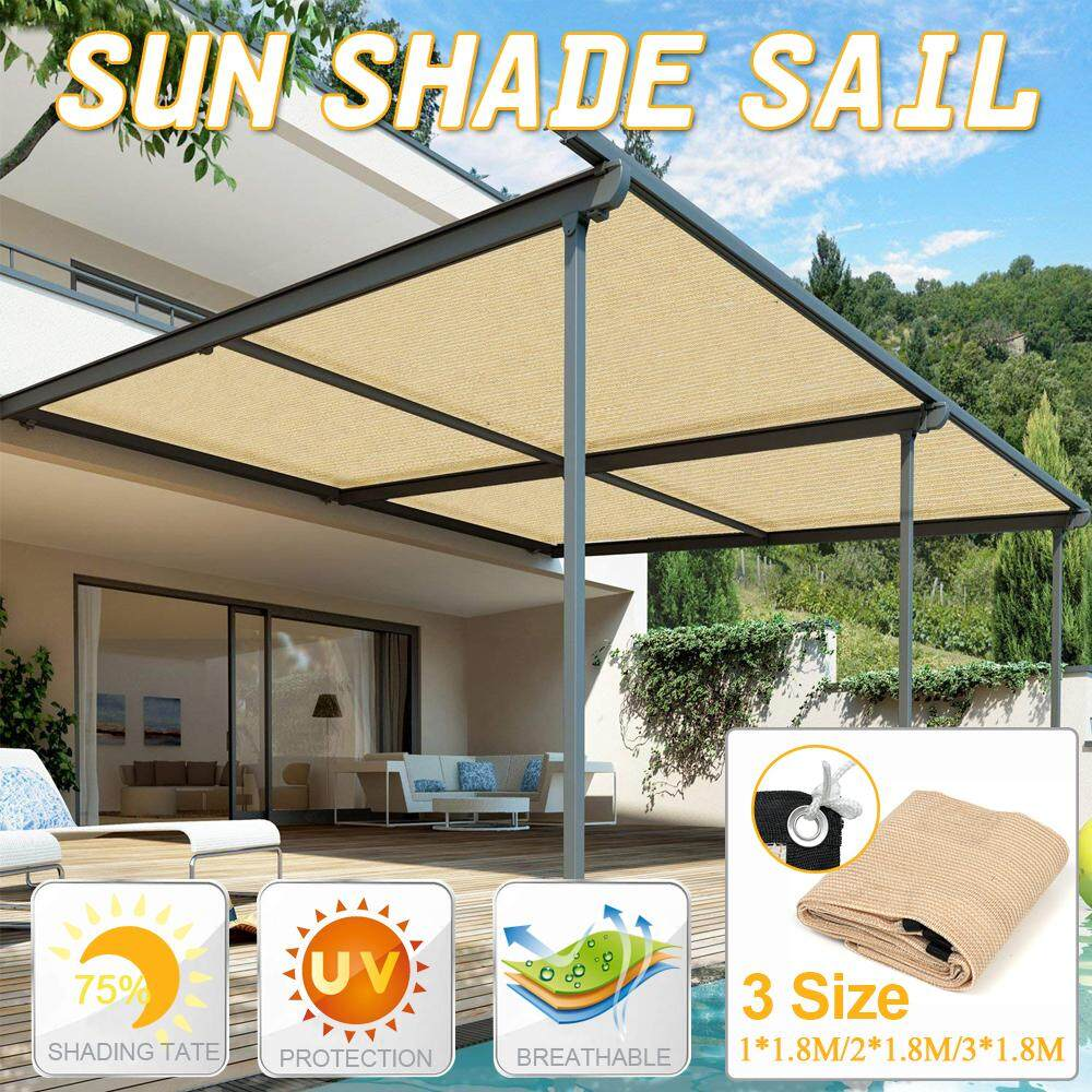 2*1.8m Sun Shade Sail Balcony Bonsai Awning Canopy Sunproof Netting Anti Uv Mesh Block Garden Party Courtyard Parking Lot Patio By Aure.