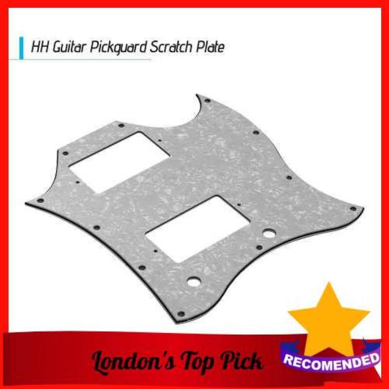 [ London ] PVC HH Guitar Pickguard Scratch Plate for SG Electric Guitars White Pearl (Pearl White) Malaysia