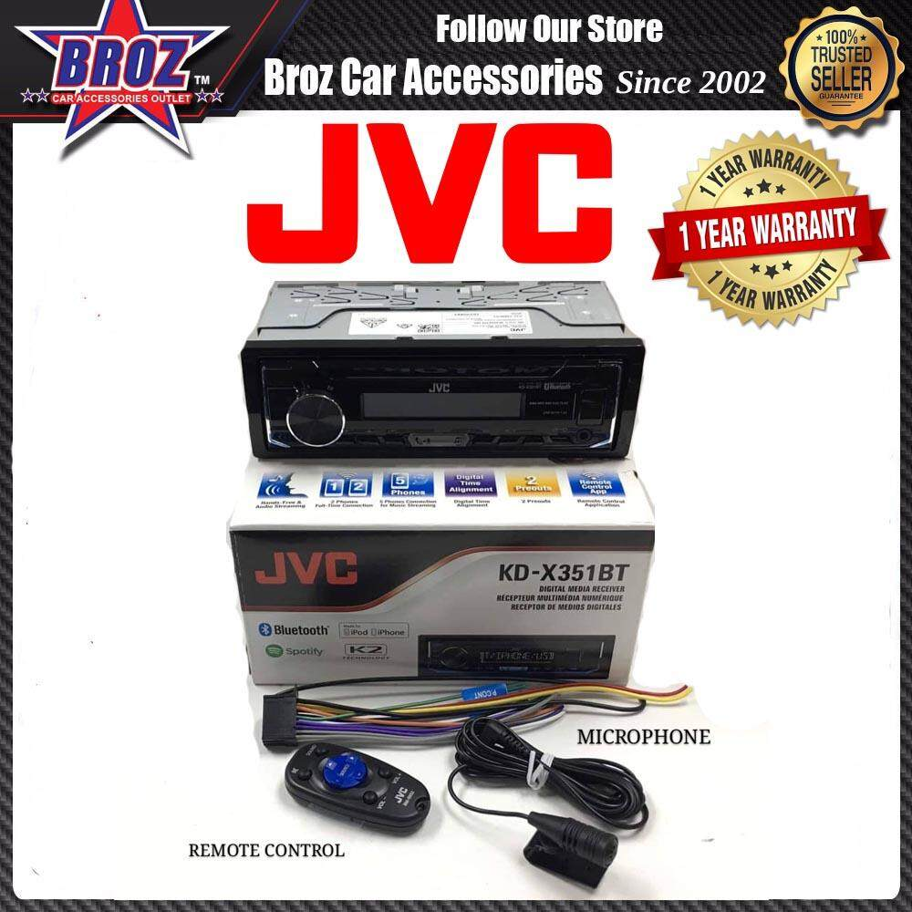 Car Stereo Receivers Buy At Best Price In Jvc Wiring Harness Power Plug Broz Kd X351bt Digital Media Receiver With Bluetooth And Front Usb Aux Input