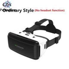 Kính Thực Tế Ảo VR 3D Mũ Bảo Hiểm Có Tai Nghe VR Google Cardboard Âm Thanh Nổi Cho Điện Thoại Thông Minh IOS Android Bluetooth Rocker
