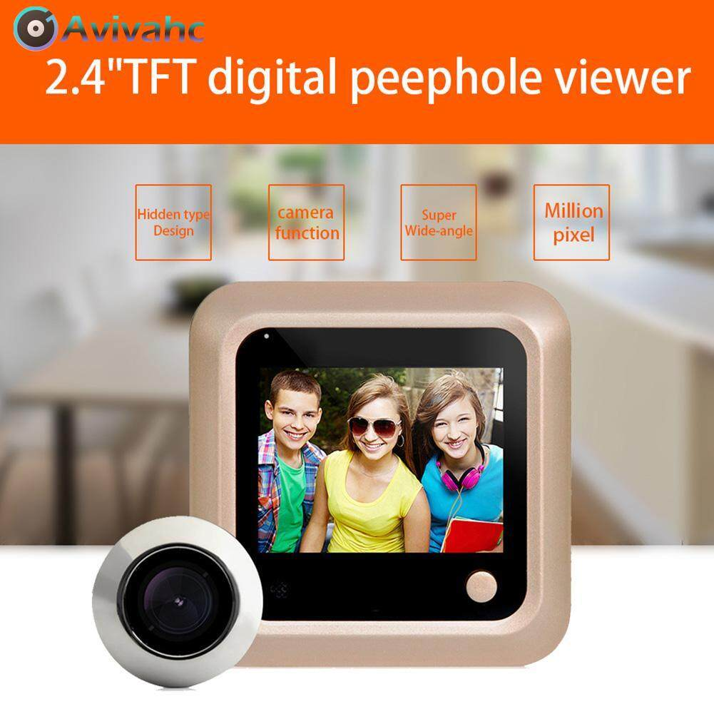 Avivahc 2.4 Inch Color Screen Wireless Video Door Phone Intercom System 2.0mp Digital Peephole Viewer Doorbell.