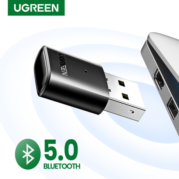 UGREEN Bluetooth Mini USB Bluetooth Receiver BT5.0 Wireless Bluetooth Dongle CRS Audio Receiver Compatible with Windows PC Cellphone Speaker PS5 /XBOX ONE S Handle Singapore