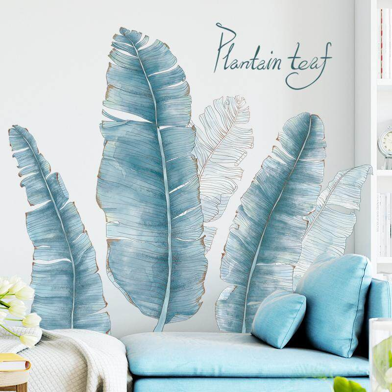 Nordic simple style Wall Stickers Plant Leaves Dormitory Decorative Painting Stickers Wall Self-adhesive Photo Frame Living room bedroom decor