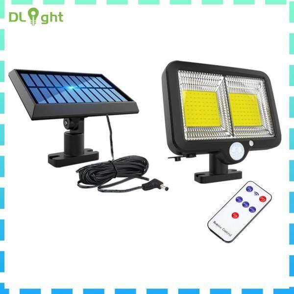 [Giá Khuyến Mãi] Đèn LED Gắn Tường Năng Lượng Mặt Trời Điều Khiển Từ Xa Đèn An Ninh Chống Nước Cảm Biến Chuyển Động