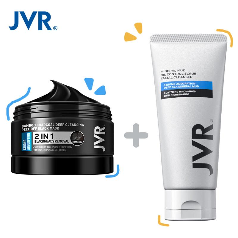 Bộ Chăm Sóc Da JVR (Loại Bỏ Mụn Đầu Đen Mặt Nạ Lột 120G + Kiểm Soát Dầu Sữa Rửa Mặt 120G) giá rẻ