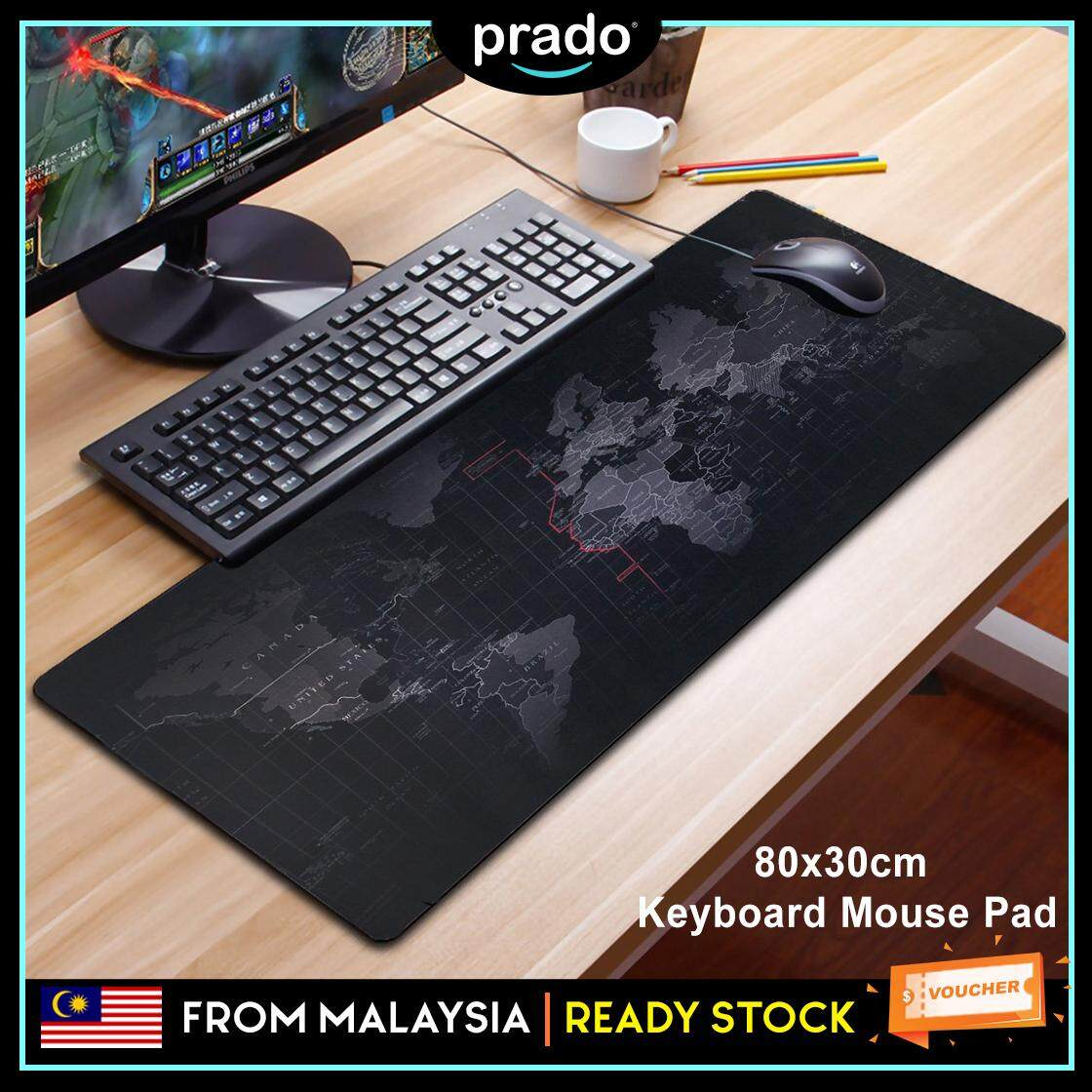 PRADO Malaysia 80cm Extra Large Non-Slip Rubber Base Gaming World Map Desktop Laptop Consoles Keyboard Mouse Pad Dota LOL CS GO Malaysia