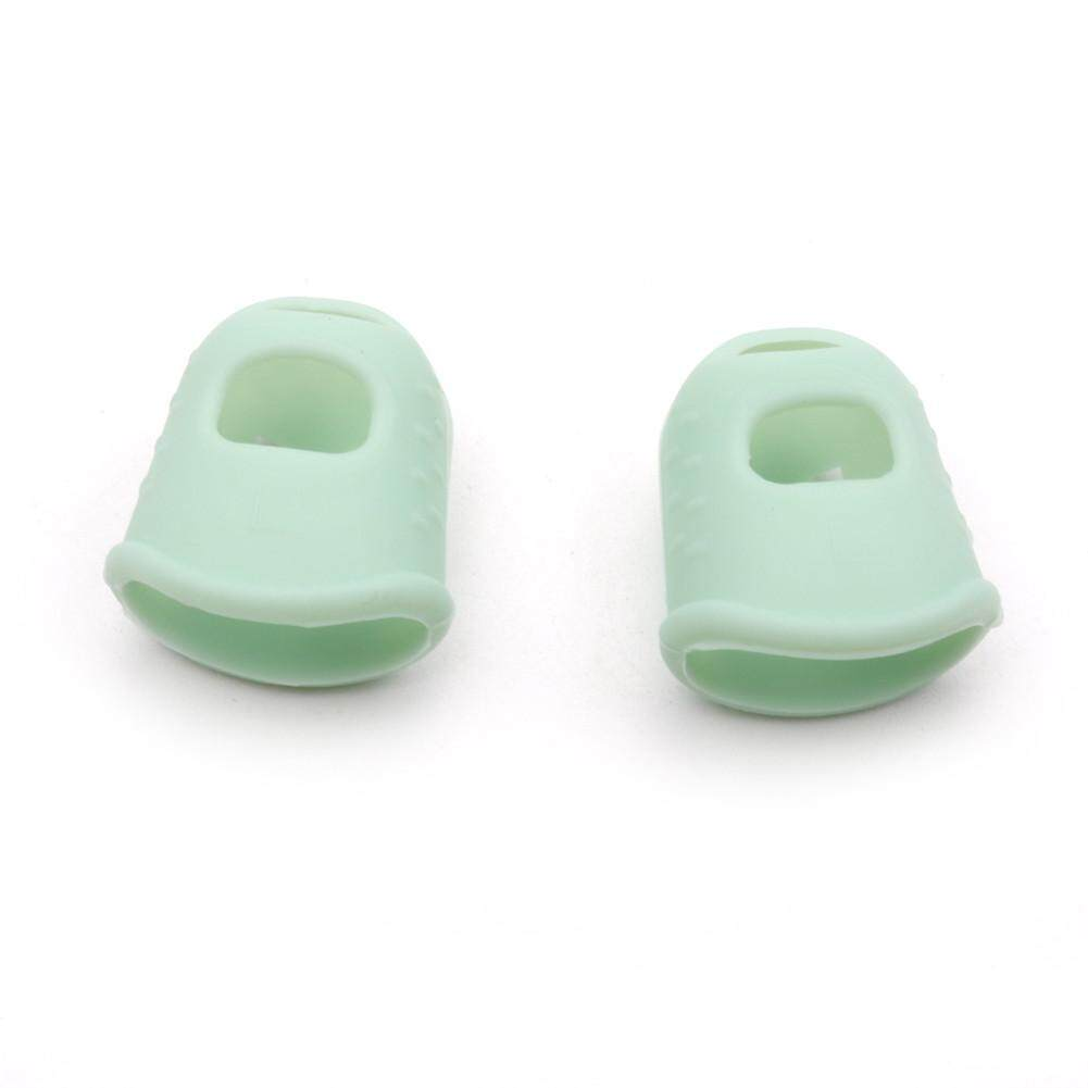 FY 1 Pair Kalimba Guitar Thumb Finger Picks Protector Silica Gel Finger Cots Fingertip Nail Protection Cover