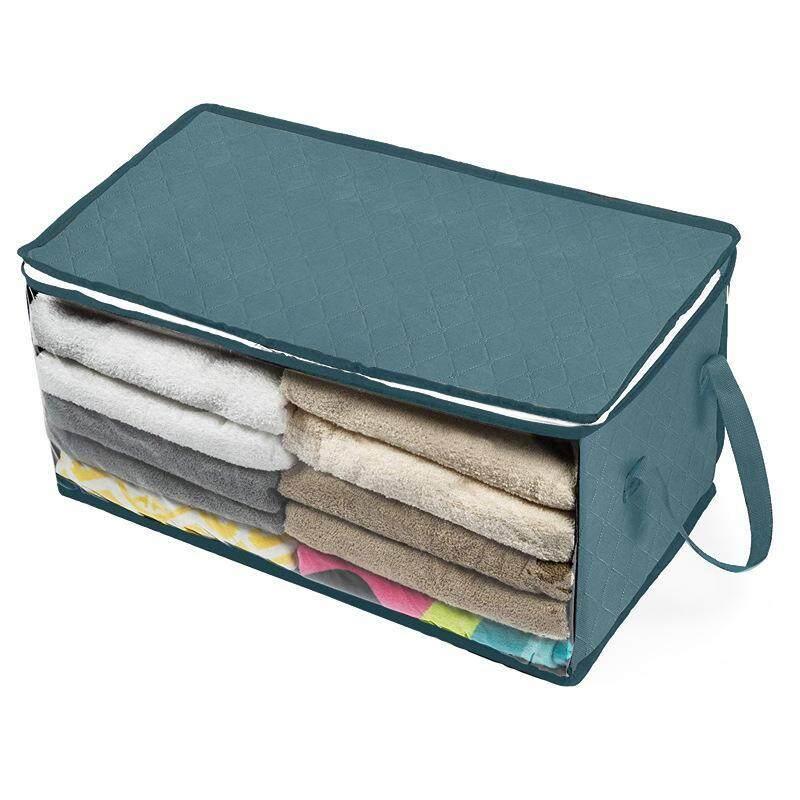 Foldable Home Closet Storage Bag Clothes Quilt Blanket Zipper Organizer Box