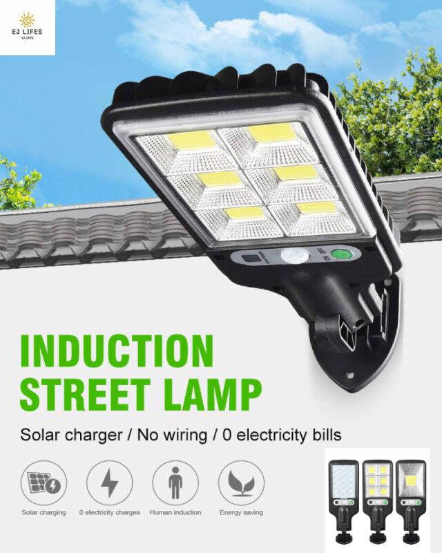Đèn Đường Cảm Biến Năng Lượng Mặt Trời, Đèn COB/LED Chống Thấm Nước Cảm Ứng Con Người, Dùng Ngoài Trời, Sân Vườn, Giá Rẻ Nhất