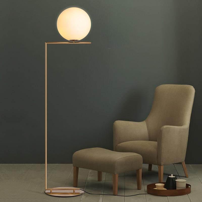 High-end Luxury Elegant Modern Nordic Simple Glass Ball Floor Lamp for Bedroom Living Room Sofa