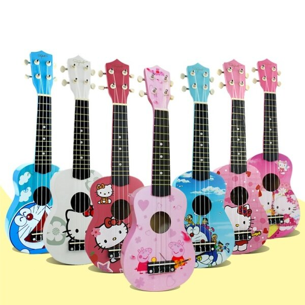 21 inch cartoon wooden ukulele small guitar for beginners and children Malaysia