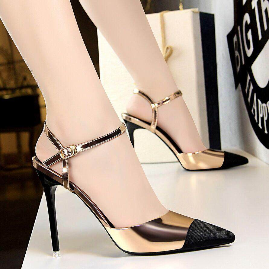 7f7b4bc872d NEW Fashion 11 cm High Heels Sandals for Women high heeled Stiletto Pointed Toe  Pumps Ladies
