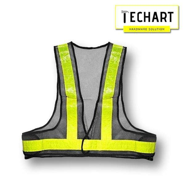 Vanker New Safety Reflective Vest Visibility Security Stripes Waistcoat Protective Black +Yellow Stripe