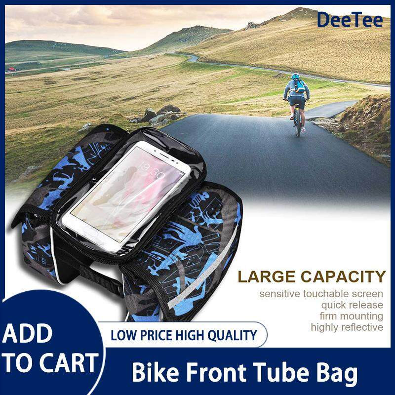Bike Front Tube Bag Waterproof Touchable Cellphone Pouch Bicycle Accessory