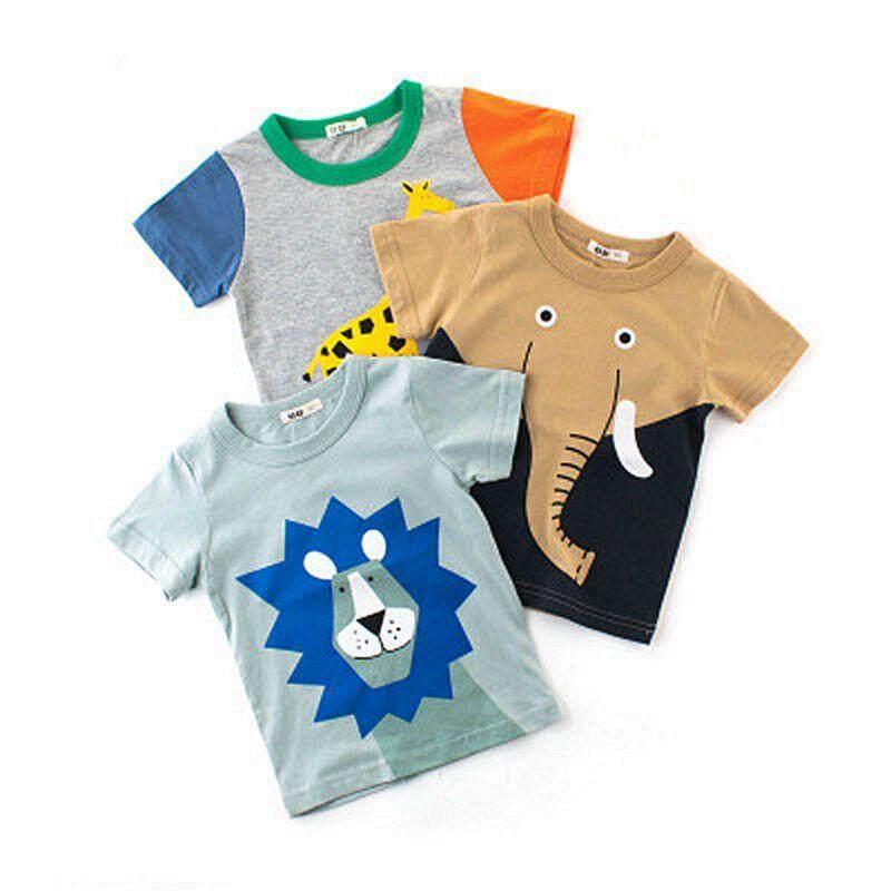 Cartoon Dinosaur Print Baby Boys T Shirt for Summer Infant Kids Boys T-Shirts Clothes Cotton Toddler Tops