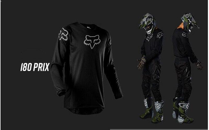 2020 Fox Racing 180 Prix Jersey-Black//White-M