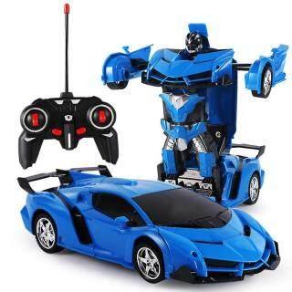 Đô chơi robot biê n hi nh xe hơi điê u khiê n tư xa co thê sa c la i bă ng điê n co mô t phi m xoay 360 cho tre em GoodToy - INTL thumbnail