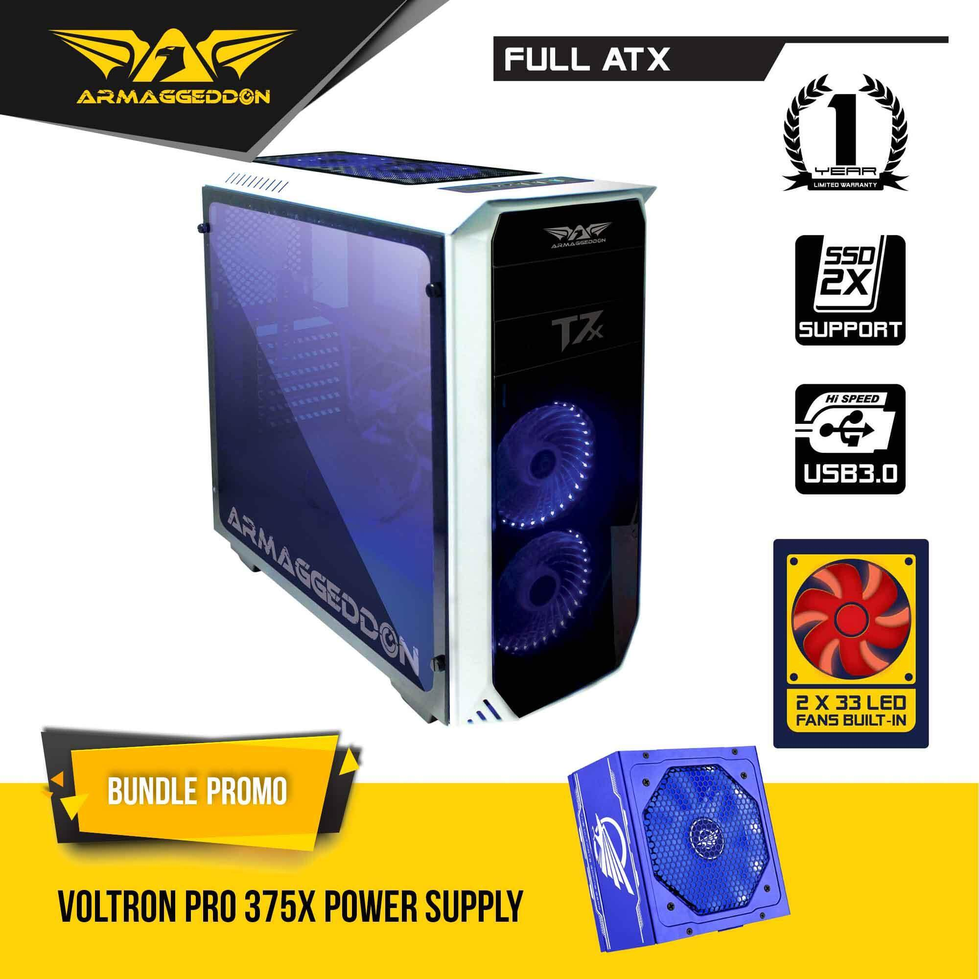 Armaggeddon T7x Full ATX Gaming Case with Voltron Pro Power Supply Bundle Promo Malaysia