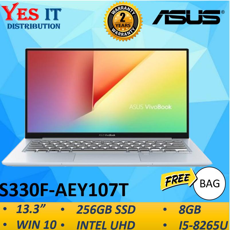 Asus Vivobook S13 S330F-AEY107T 13.3  FHD Laptop Notebook Silver ( I5-8265U, 8GB, 256GB, Intel, W10 ) Malaysia