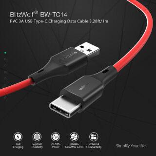 BW-TC14 BlitzWolf Cáp Dữ Liệu Sạc USB Type-C 3A Cáp Dữ Liệu Đồng Bộ Sạc Nhanh 3ft 0.91M Dành Cho Samsung HUAWEI Nokia Xiaomi Meizu SONY thumbnail