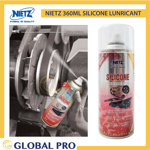 NIETZ Silicone Lubricant Spray 350ml, for Rubber, Vinyl and Plastic, Reduces Cracking or Splitting Rubber