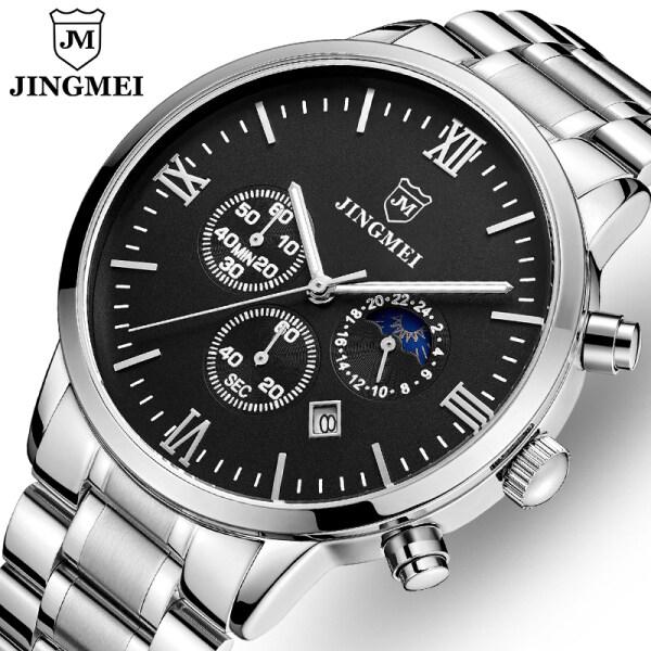 JINGMEI Top Brand Luxury Mens Business Watch Quartz Watch Mens Fashion Sports Clock Men Casual Stainless Steel Waterproof Stopwatch Malaysia