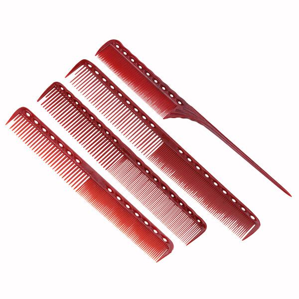 4 Cái/bộ Lược Chải Tóc Đỏ Chống Tĩnh Điện Detangling Lược Chải Thẳng Tóc Cắt Tóc Thiết Kế Khác Nhau