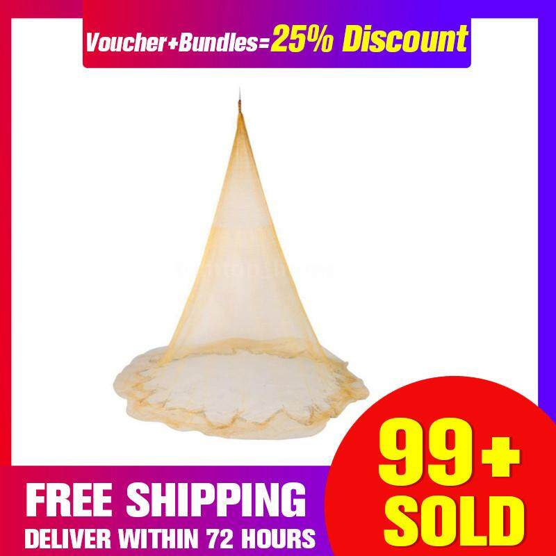 【Free Shipping + Super Deal + Limited Offer】2.5M x 3.5M Hand Throw Fishing Net Spin Bait Casting Sinker Mesh Equipment