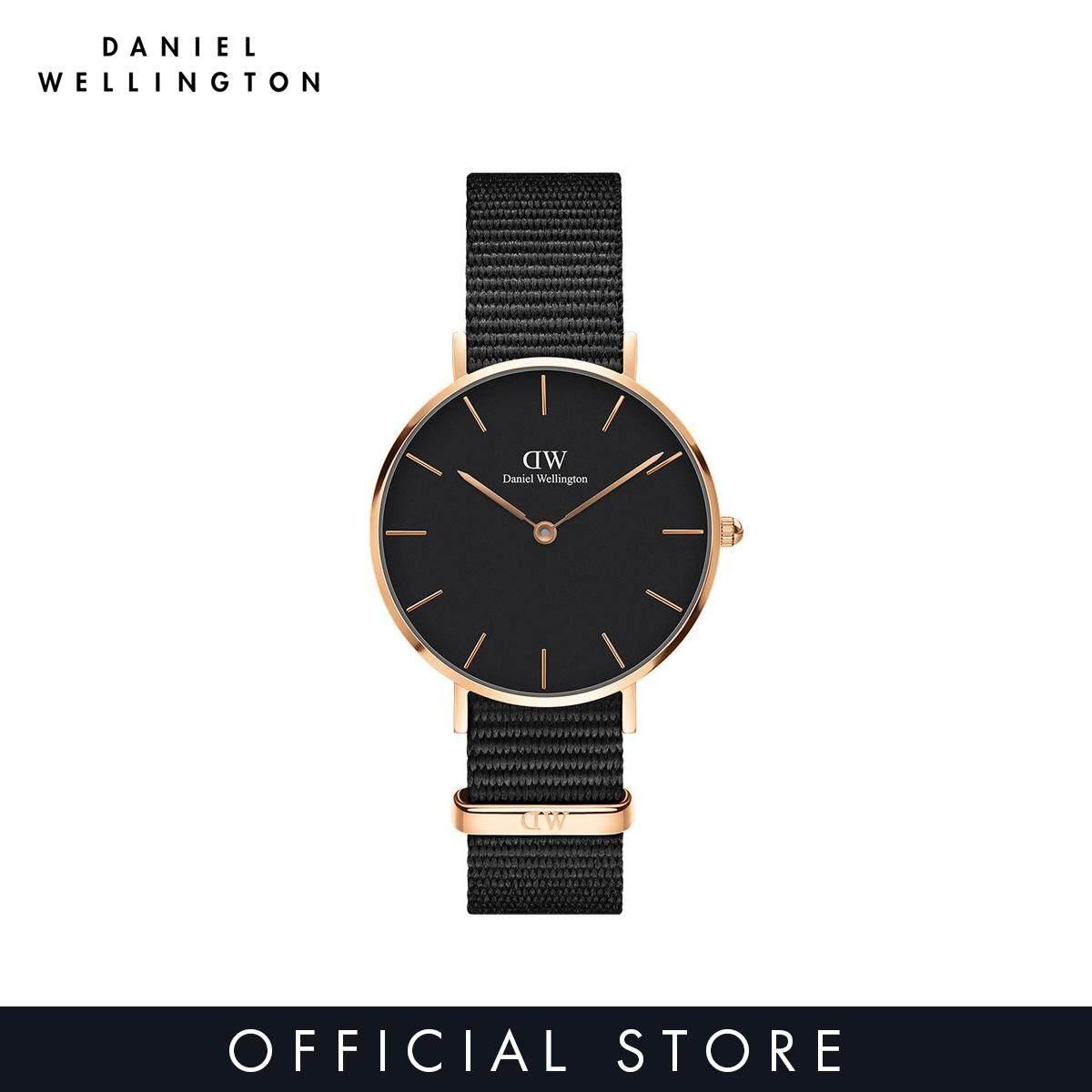 0574113cc510 Daniel Wellington Classic Petite Cornwall Black 32mm - Black on gold - 14mm Daniel  Wellington Cornwall