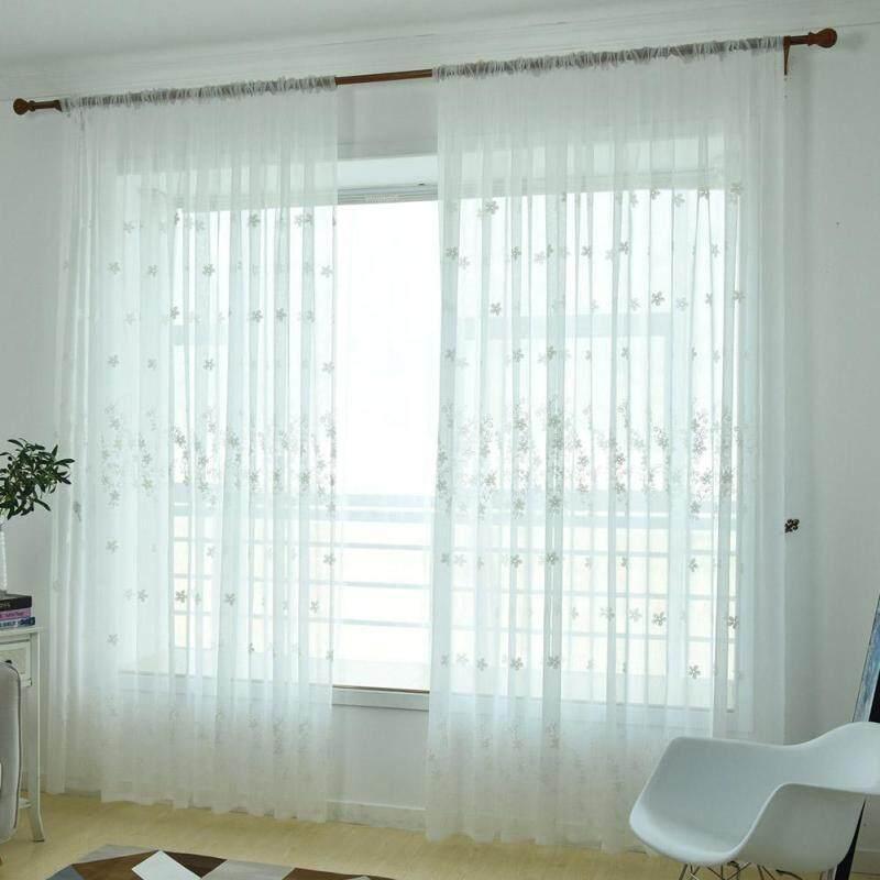 2.5X1M Polyester Thêu In Rèm Trang Chủ Đồ Trang Trí Cửa Sổ