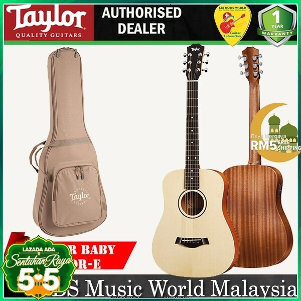 Taylor Baby Taylor-e BT1-e 3/4 Dreadnought Acoustic Electric Guitar with Bag (BT1e BT1 e) Malaysia