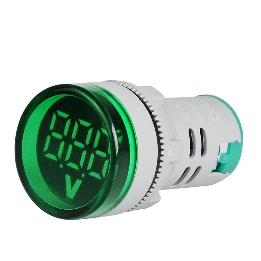 PS 22mm LED Digital Display Gauge Volt Voltage Meter Indicator Signal Lamp Voltmeter Lights Tester Combo Measuring Range 60-500V AC
