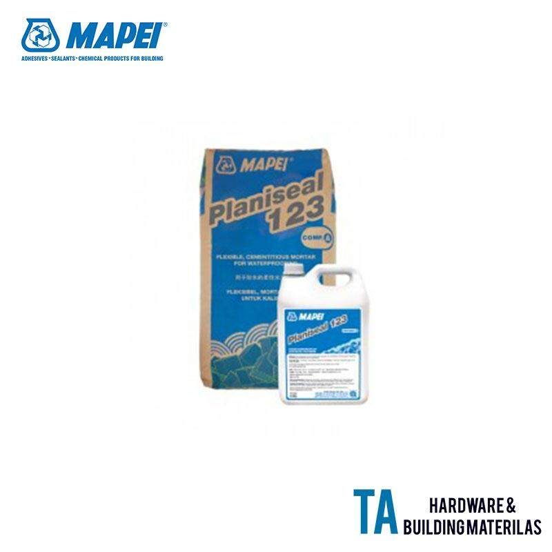 Mapei Planiseal 123 Flexible, Cementitious Mortar For Waterproofing 22.5KG (18KG Powder + 4.5KG Liquid)