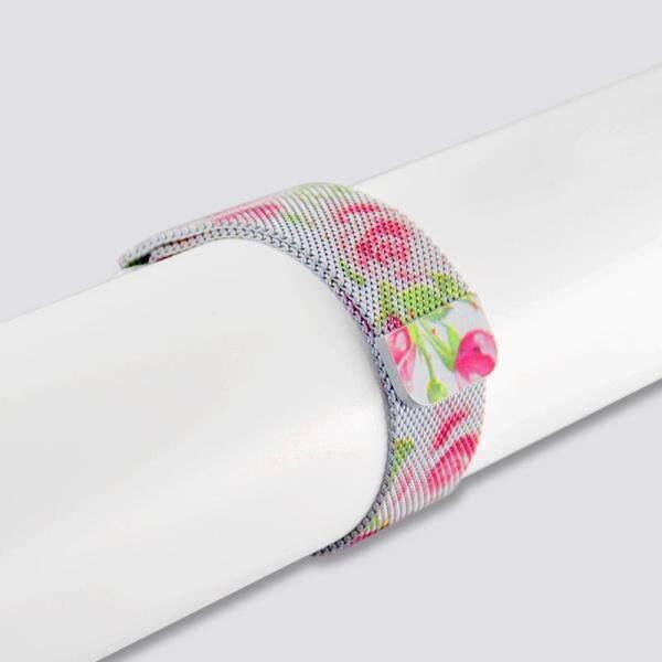 Nơi bán CHENGXI Cho Milanese Loop Band Đen Đỏ Thiết Kế Dành Cho Đồng Hồ Apple 38mm 42mm Ban Nhạc Series 3/2 /1 kim loại, đồng hồ nam dây thép không gỉ Dây 40mm 44mm Cho TÔI-Đồng hồ 4, nhà sản xuất chuyên nghiệp