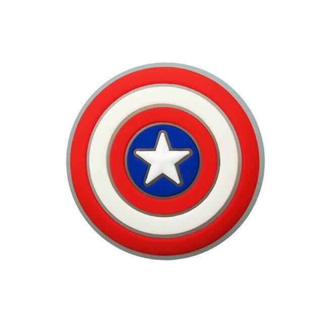 Giá bán 1 Chiếc Avengers LED Giày Hạt Nhựa PVC Giày Khóa Giày Nhẹ Phụ Kiện Đồ Trang Trí Phù Hợp Với Croc Jibz Làm Quà