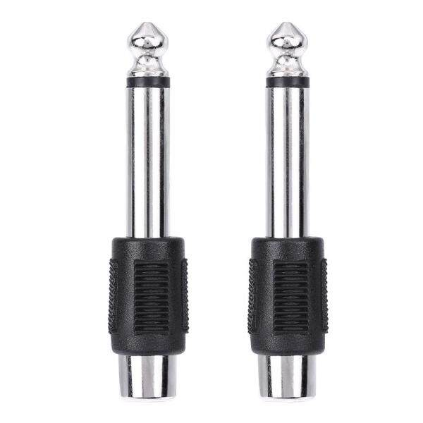 4pcs RCA/AV Female to 6.35mm 1/4 Inch Male Mono Audio Adapters Connecters Singapore
