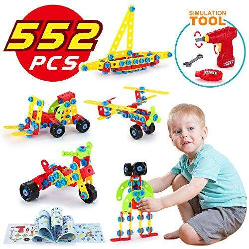 LUKAT STEM Toys, Building Blocks for Kids, Learning Construction Educational Toys for 5, 6, 7, 8, 9 Year and Older Boys and Girls, 552 pcs gift
