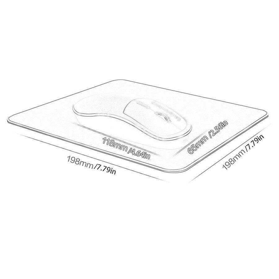 PKPNS K1 2.4Ghz Aluminum Alloy Charging 2 Key w*ireless Mouse Mute Silent Mouse