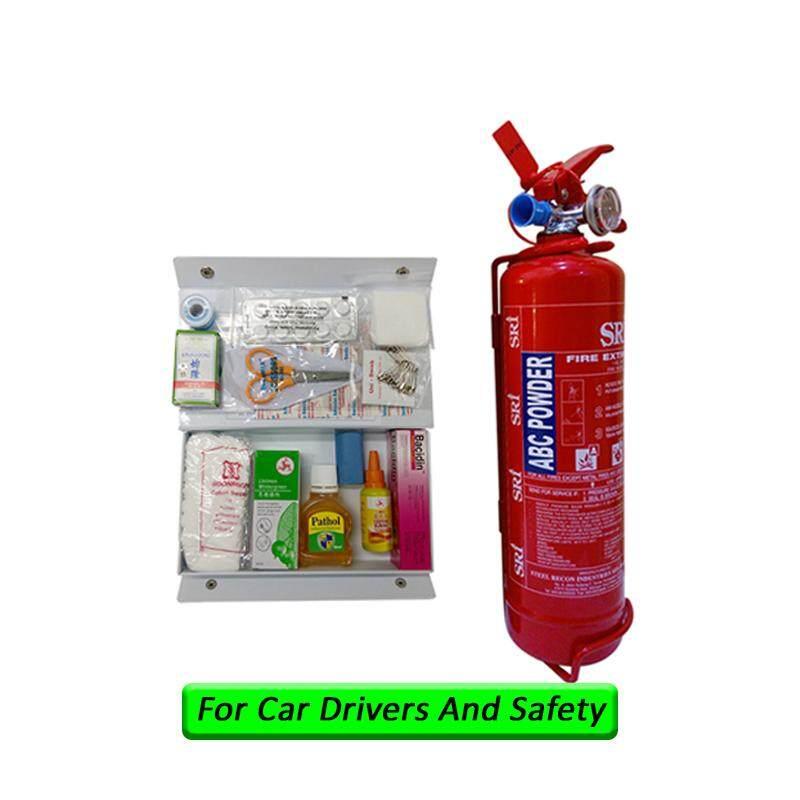 EzSpace 1Kg Fire Extinguisher Sri Year 2019 Production Sirim Puspakom Ready And First Aid Kit For Vehicle Grab Car Drivers Taxi Site Work Pemadam Api Set Untuk Kereta Grab