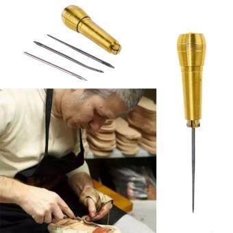 〔Questionno〕Kit เครื่องมือรองเท้าเย็บเครื่องมือซ่อมแซม 1 ชุดอุปกรณ์เย็บผ้าเข็ม Awl หนัง Craf-