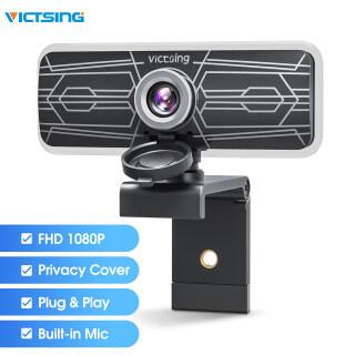 Webcam VicTsing PC317 1080P Có Micro Kép & Vỏ Bảo Mật, Camera Máy Tính USB PC Giảm Tiếng Ồn Dành Cho Windows Mac OS, Truyền Phát Video, Ghi Âm, Hội Nghị, Trực Tuyến Lớp thumbnail