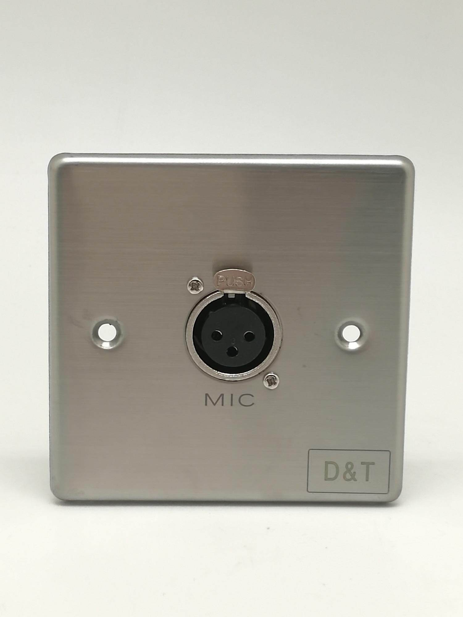 D&T Single XLR Female 3 x 3 Metal Wall Plate - CMMTDT-336 Malaysia