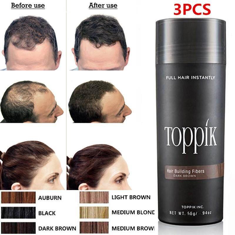Chux 3pcs (black) Hair Loss Concealer Blender Salon Beauty Toppik Hair Building Fiber Keratin Hair Styling Tonic Coloring Powder By Chux.
