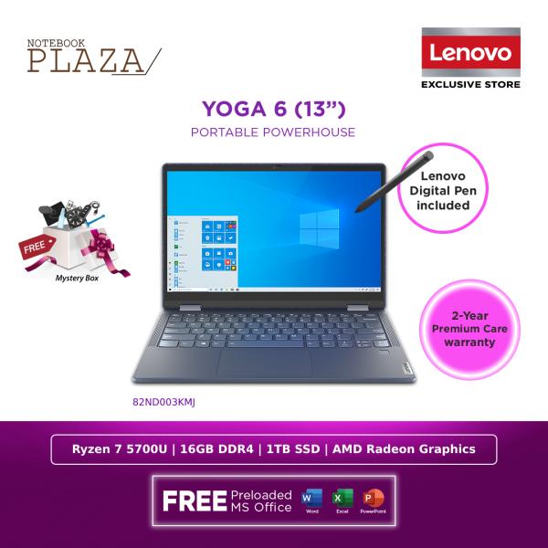 Lenovo Yoga 6 13ALC6 82ND003KMJ 13.3 FHD Touch Laptop Abyss Blue ( Ryzen 7 5700U, 16GB, 1TB SSD, ATI, W10, HS ) Malaysia